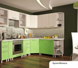 Модульная кухня Мелиса, Лаванда, Имбирь, Карри.