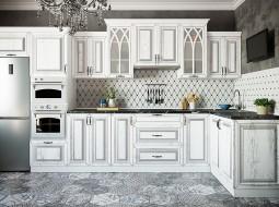 """Кухни на заказ """"Сканди"""" патина серебро"""