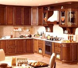 Кухни на заказ «Бук» массив