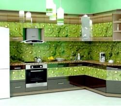 """Кухни на заказ """"Альбико"""" с фотопечатью"""